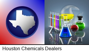 Houston, Texas - colorful chemicals